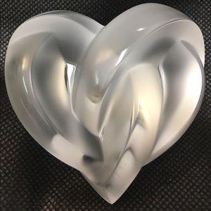 Lalique chrystal heart